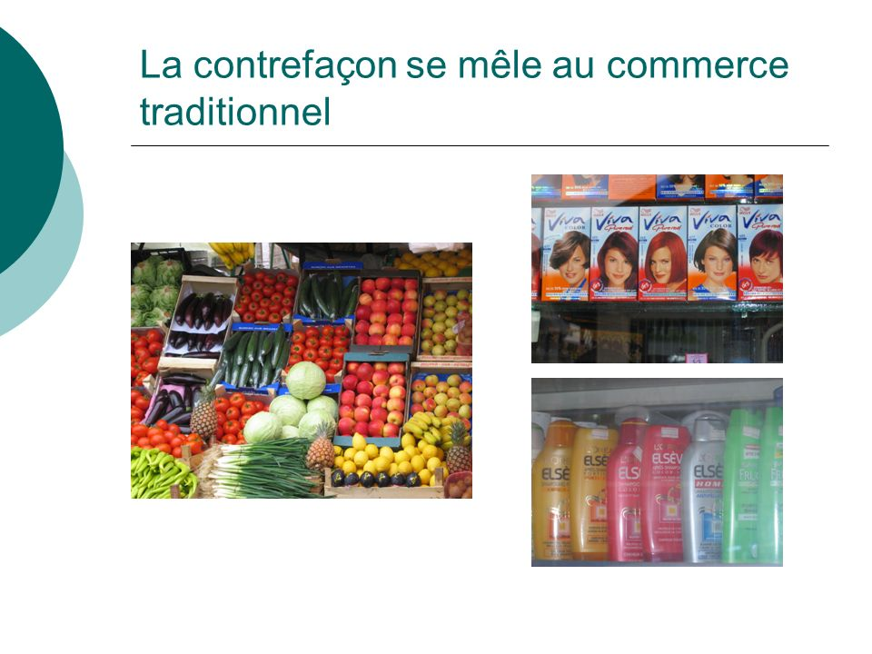 La contrefaçon se mêle au commerce traditionnel