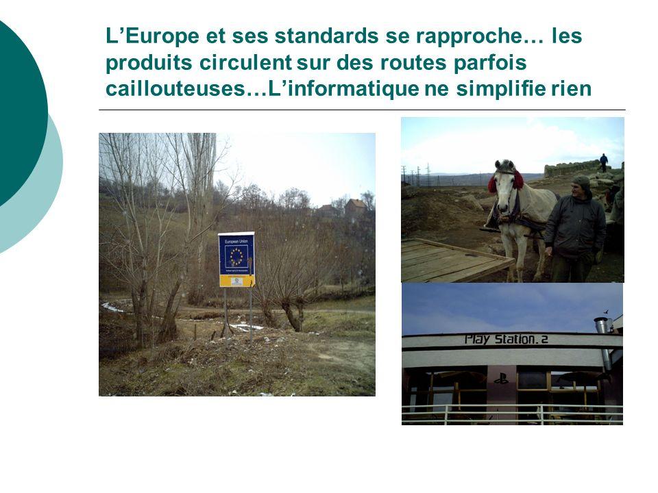 L'Europe et ses standards se rapproche… les produits circulent sur des routes parfois caillouteuses…L'informatique ne simplifie rien