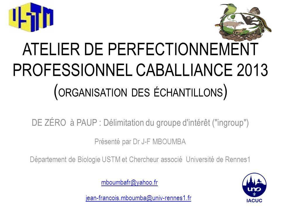 Atelier de perfectionnement professionnel CABAlliance 2013 (organisation des échantillons)