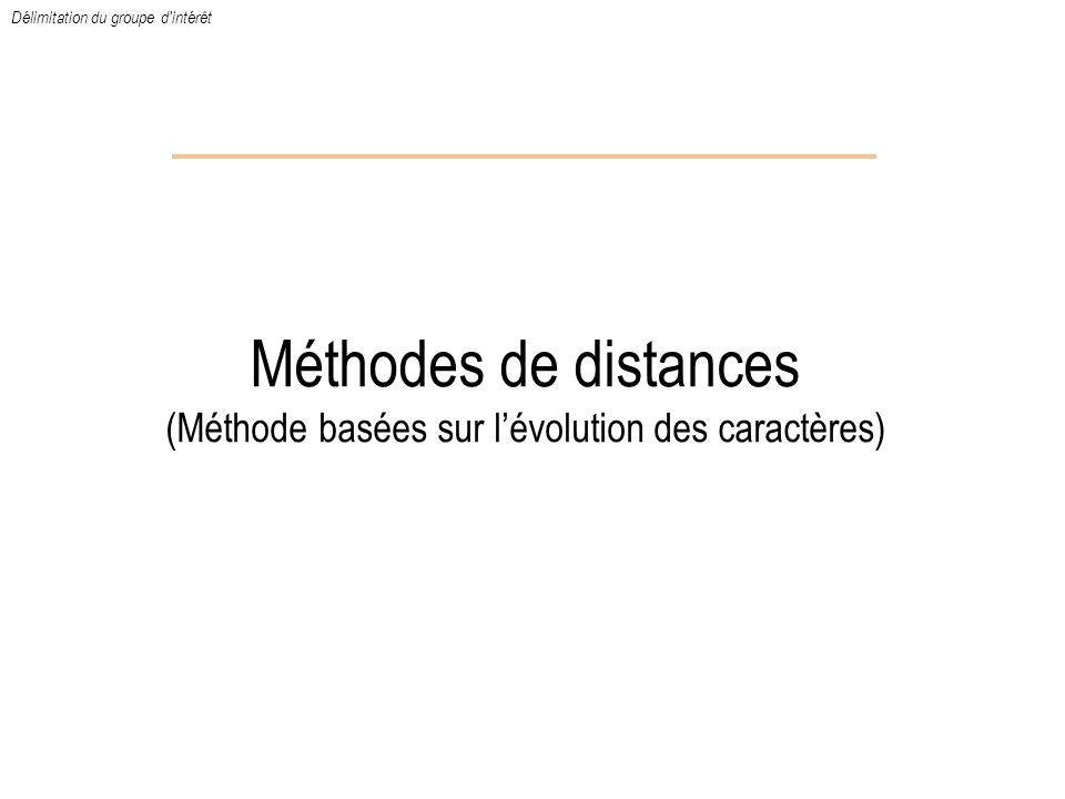 Méthodes de distances (Méthode basées sur l'évolution des caractères)