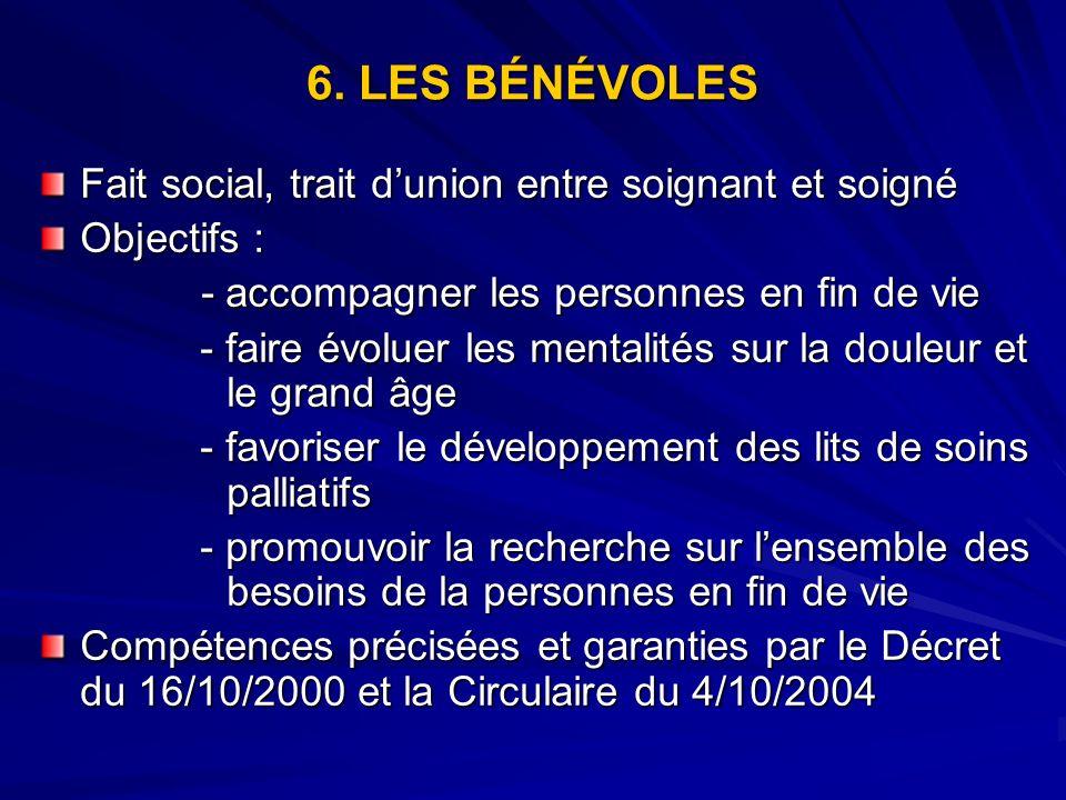 6. LES BÉNÉVOLES Fait social, trait d'union entre soignant et soigné