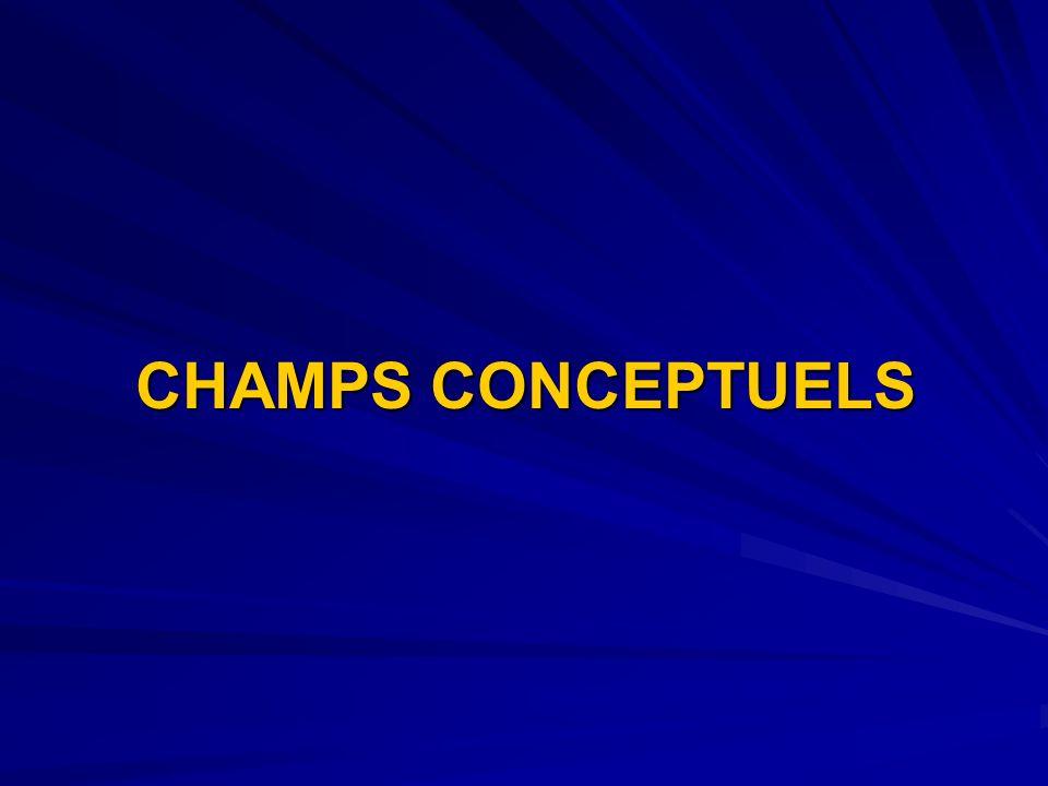 CHAMPS CONCEPTUELS