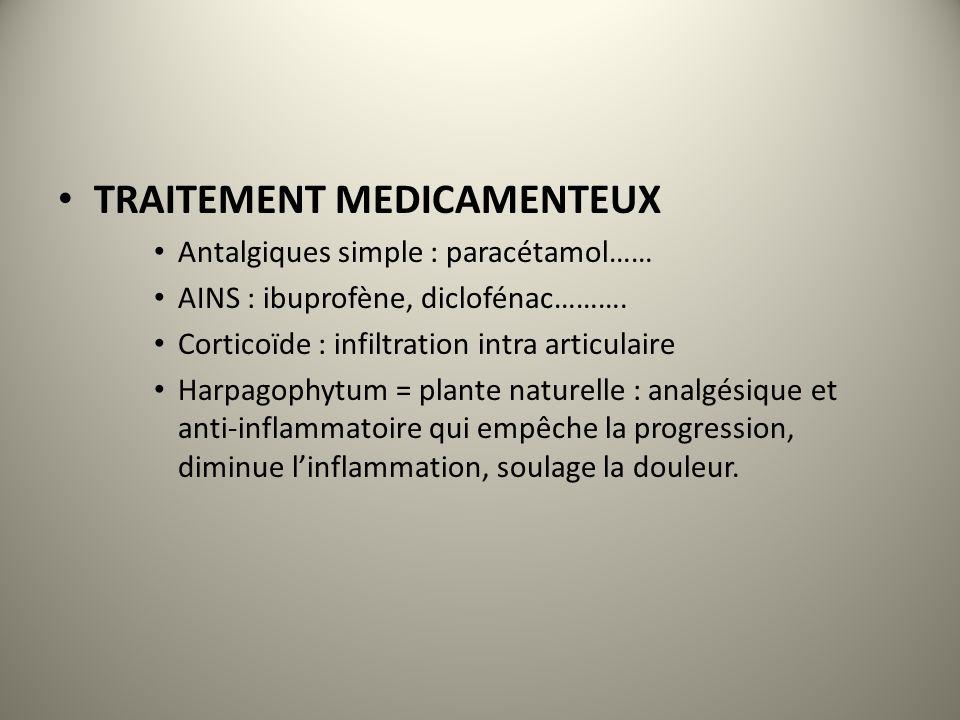 TRAITEMENT MEDICAMENTEUX