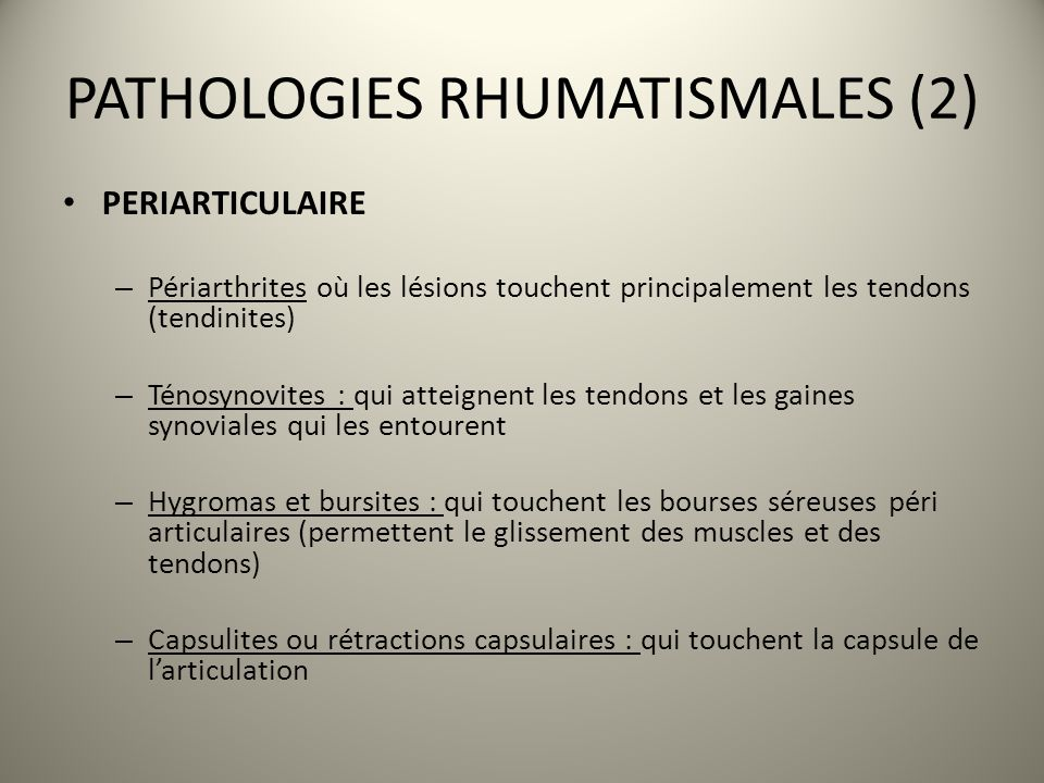PATHOLOGIES RHUMATISMALES (2)