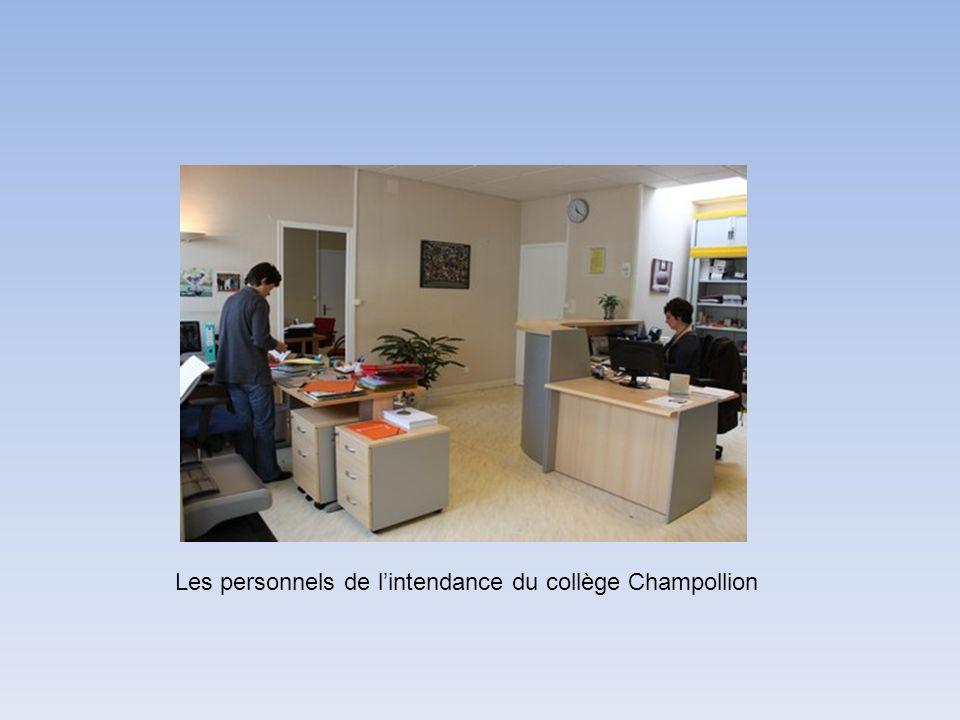 Les personnels de l'intendance du collège Champollion
