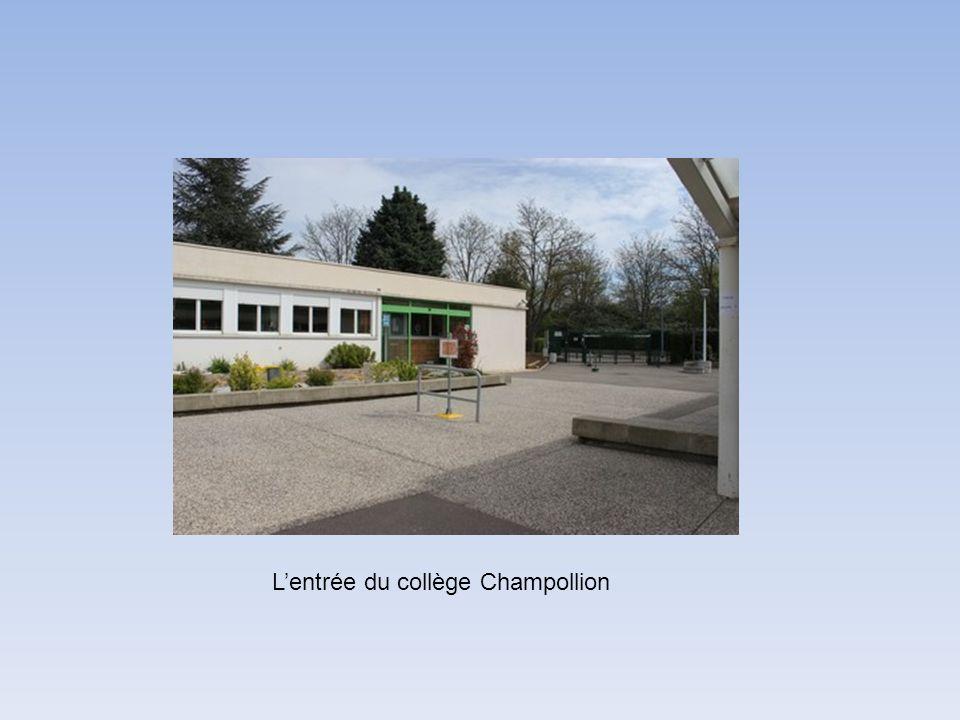 L'entrée du collège Champollion