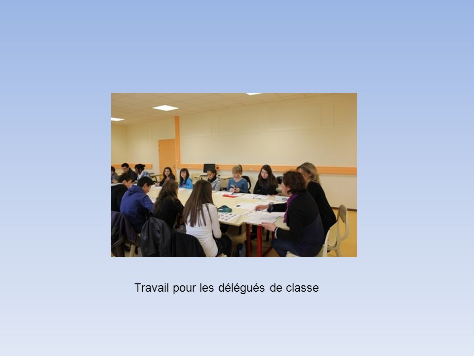 Travail pour les délégués de classe