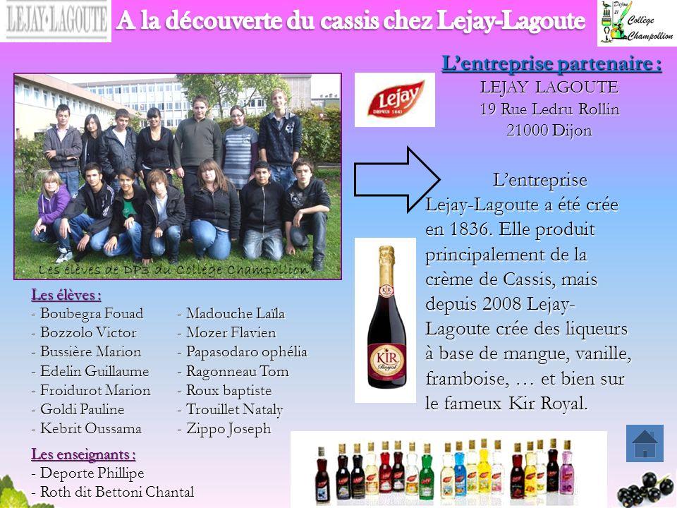 A la découverte du cassis chez Lejay-Lagoute