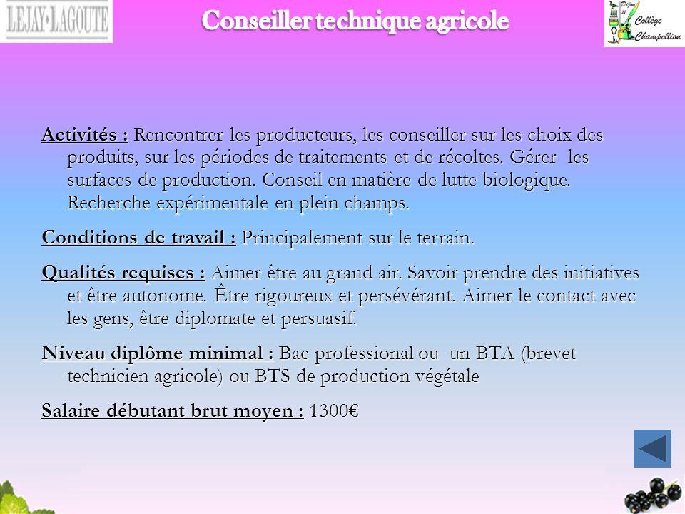 Conseiller technique agricole