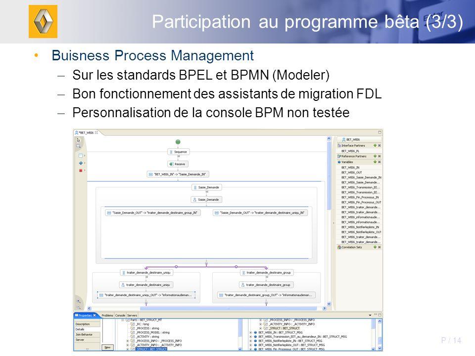 Participation au programme bêta (3/3)