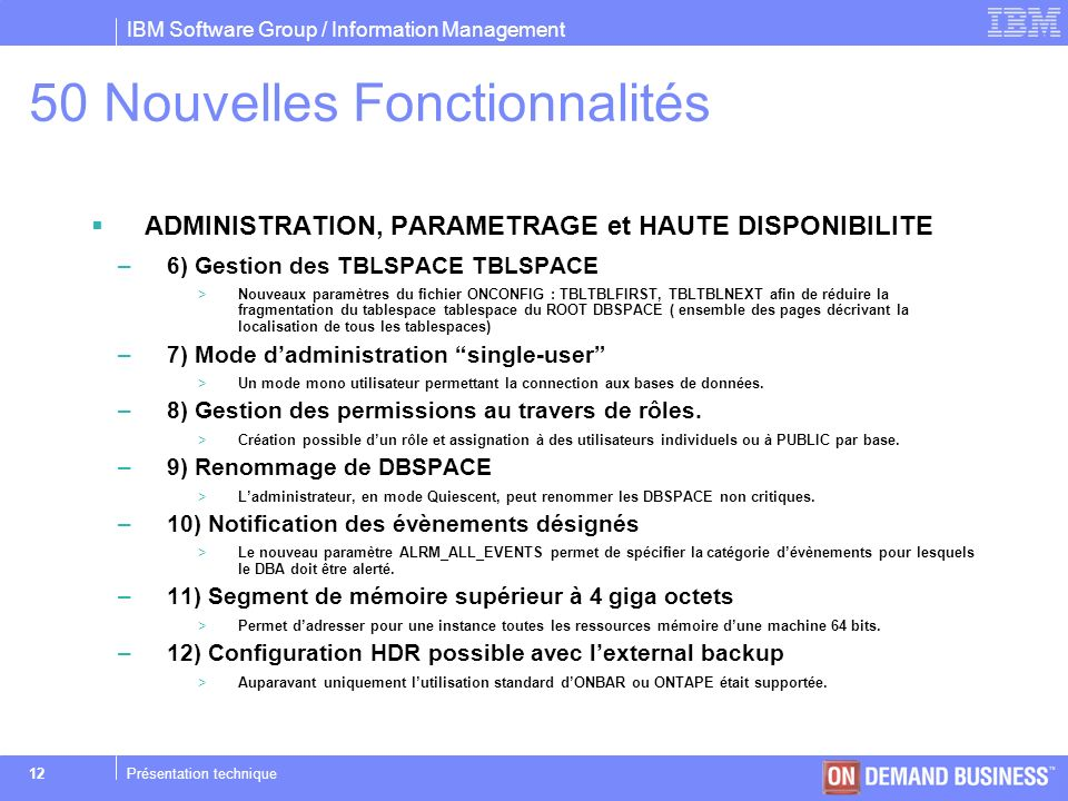 50 Nouvelles Fonctionnalités