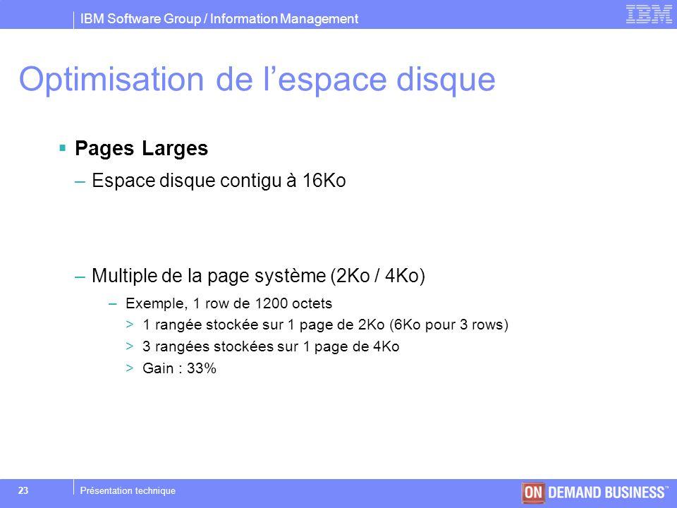 Optimisation de l'espace disque