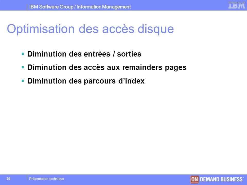Optimisation des accès disque