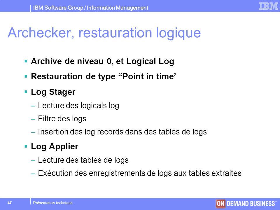 Archecker, restauration logique
