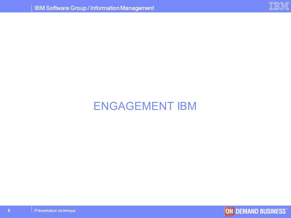 ENGAGEMENT IBM Présentation technique