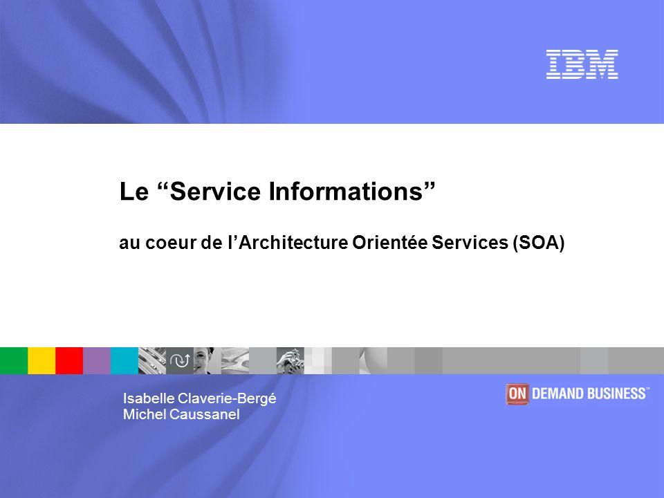 Le service informations au coeur de l architecture for Architecture orientee service
