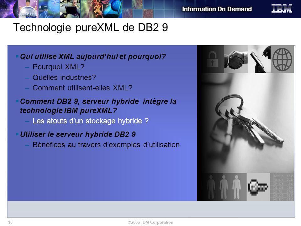 Technologie pureXML de DB2 9