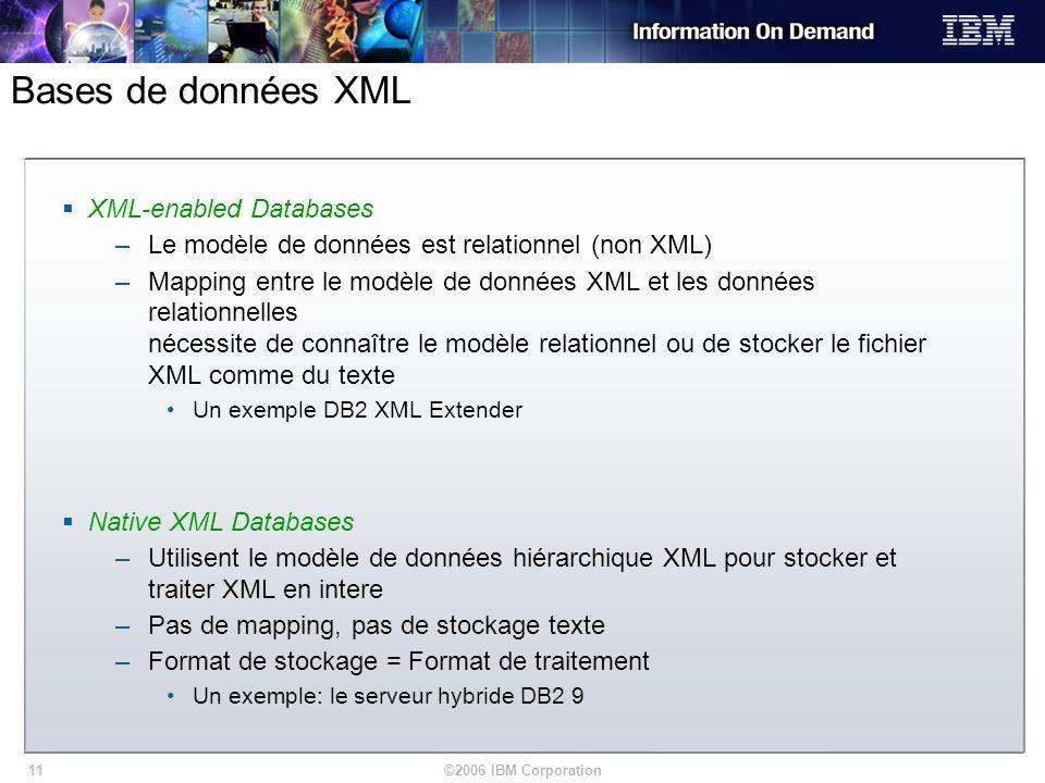 Bases de données XML XML-enabled Databases