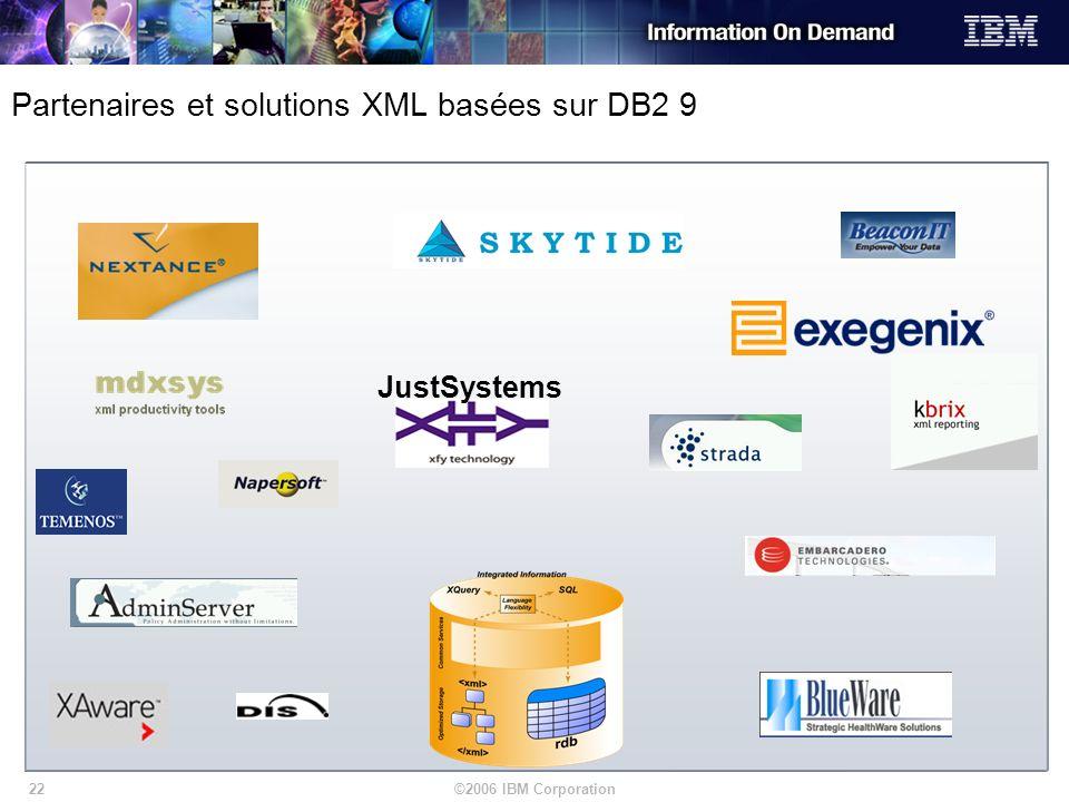 Partenaires et solutions XML basées sur DB2 9
