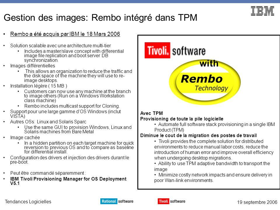 Gestion des images: Rembo intégré dans TPM