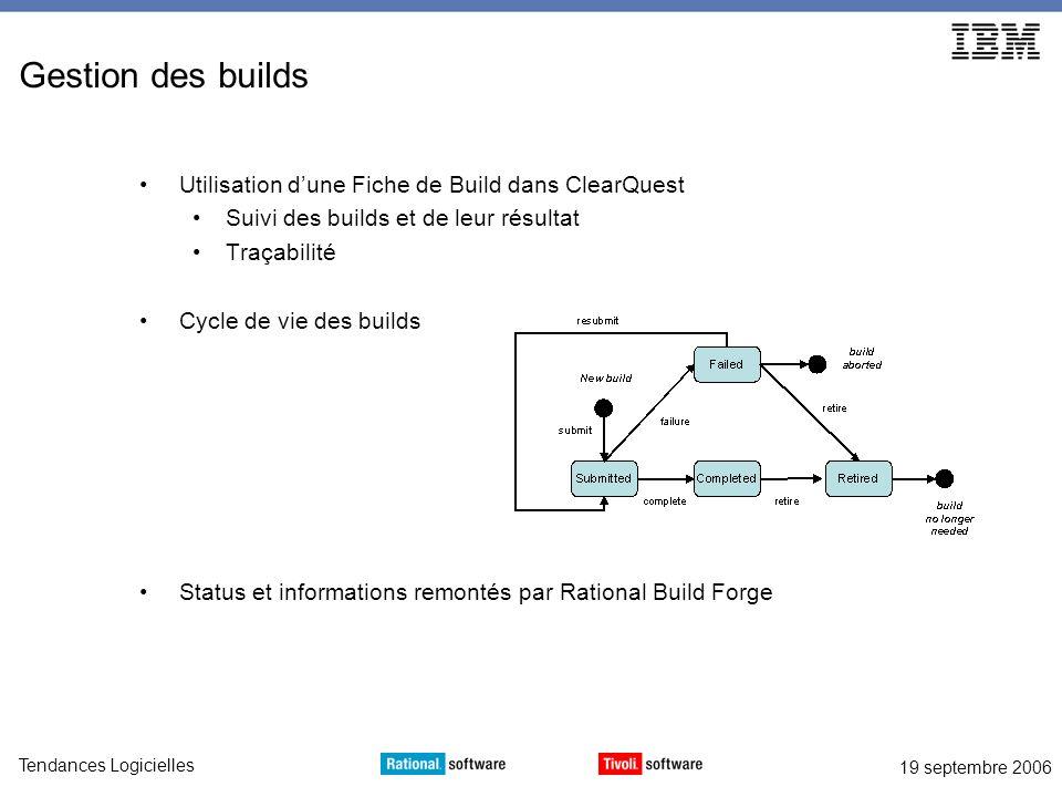 Gestion des builds Utilisation d'une Fiche de Build dans ClearQuest