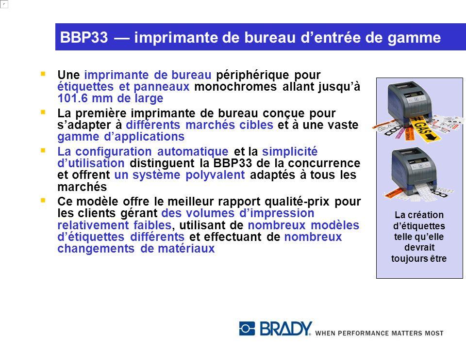 BBP33 — imprimante de bureau d'entrée de gamme