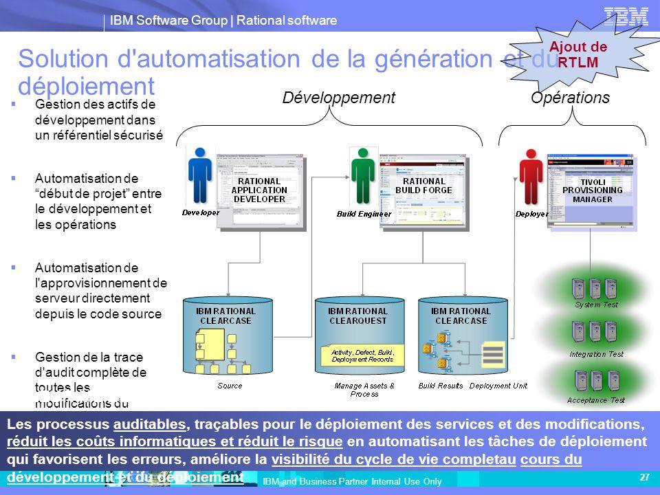 Solution d automatisation de la génération et du déploiement