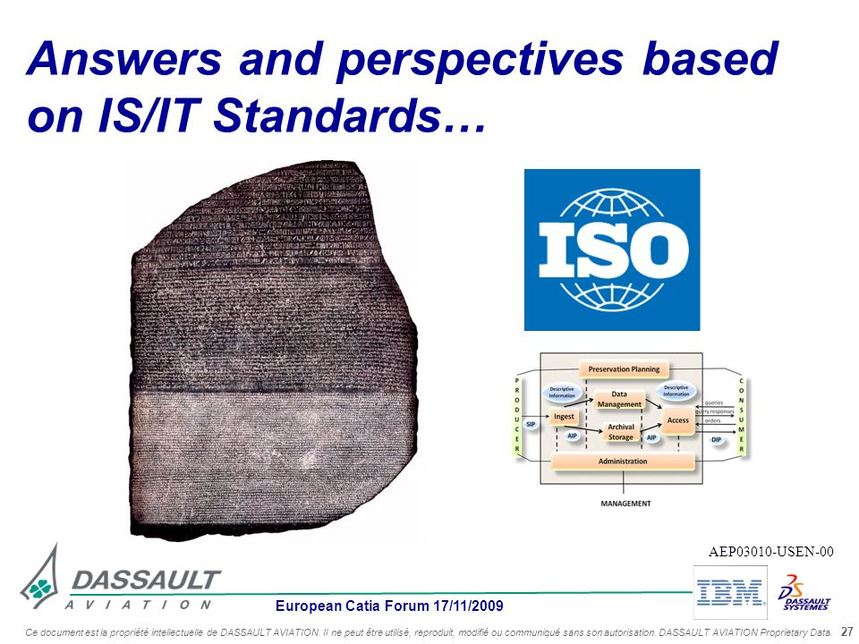 Answers and perspectives based on IS/IT Standards…