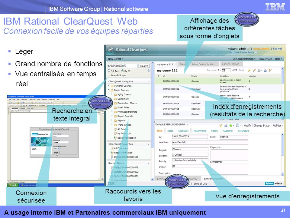 IBM Rational ClearQuest Web Connexion facile de vos équipes réparties