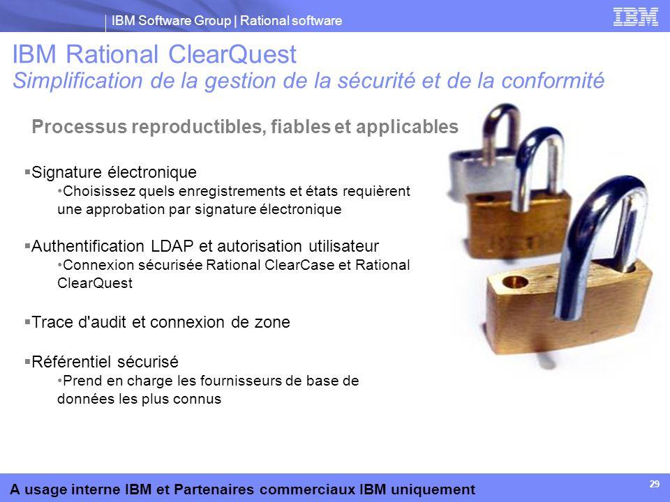 IBM Rational ClearQuest Simplification de la gestion de la sécurité et de la conformité