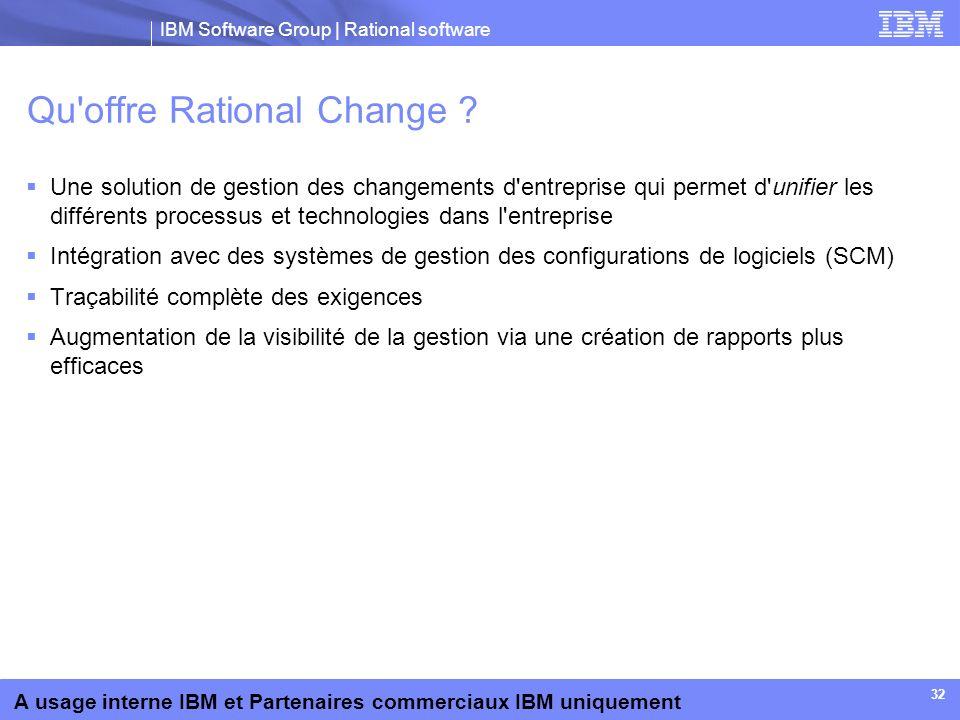Qu offre Rational Change