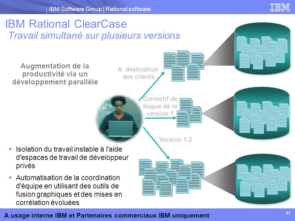 IBM Rational ClearCase Travail simultané sur plusieurs versions