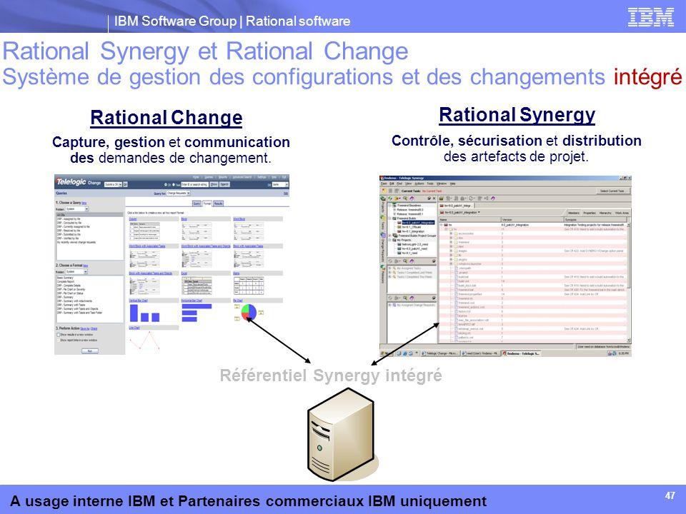 Rational Synergy et Rational Change Système de gestion des configurations et des changements intégré