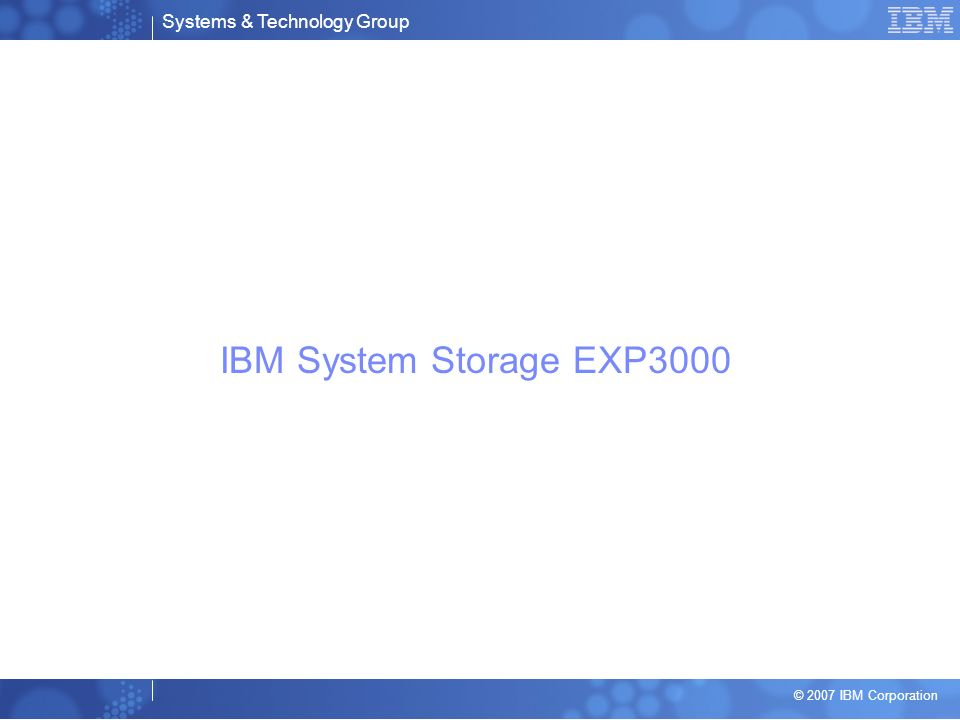 IBM System Storage EXP3000