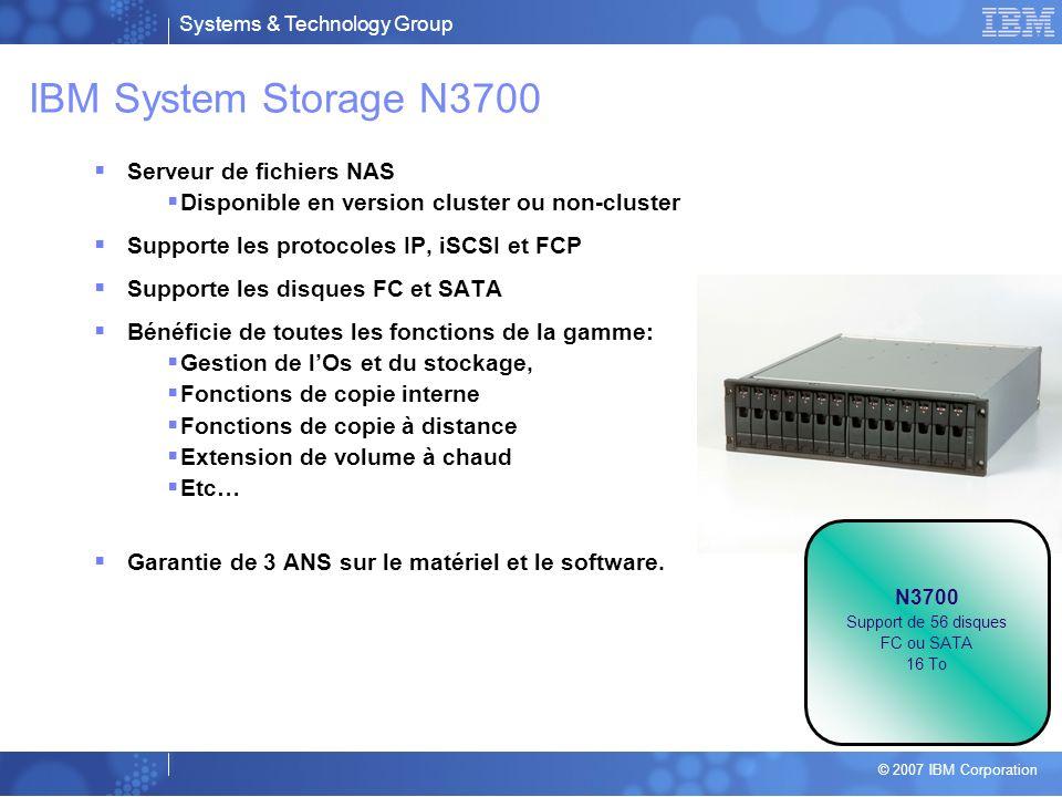 IBM System Storage N3700 Serveur de fichiers NAS
