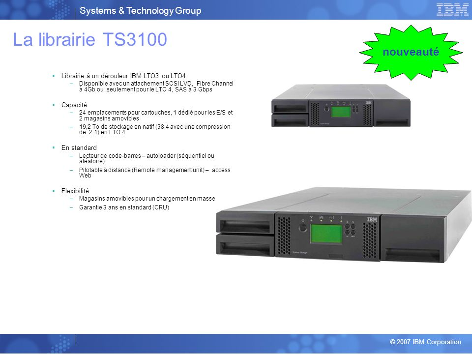 La librairie TS3100 nouveauté
