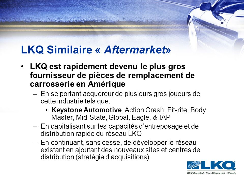 LKQ Similaire « Aftermarket»