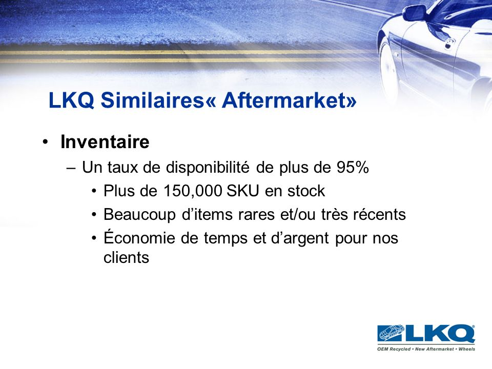LKQ Similaires« Aftermarket»