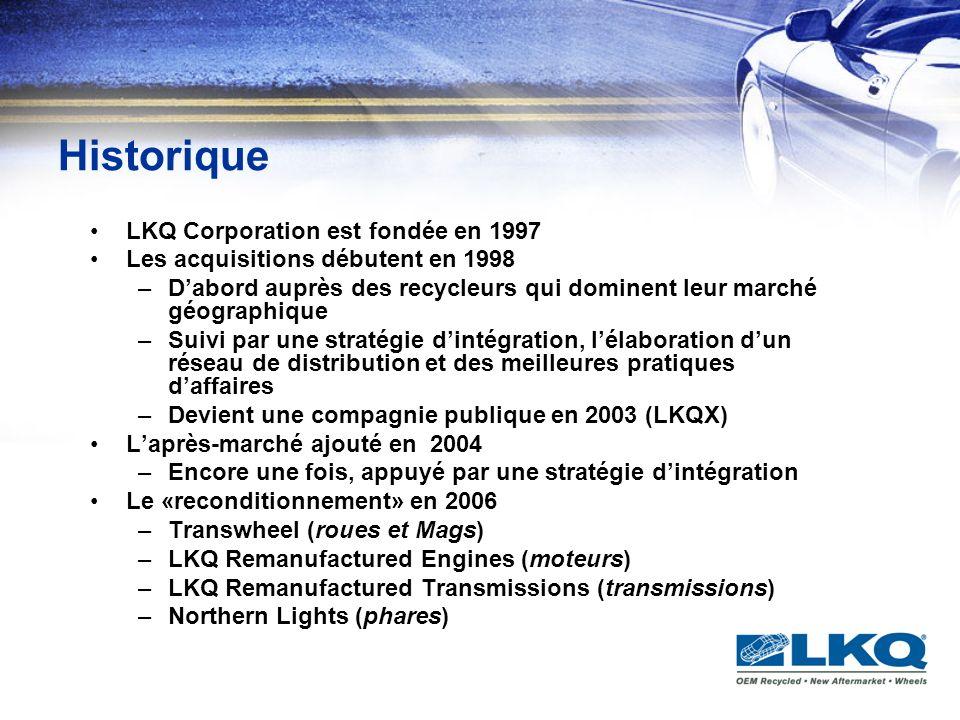 Historique LKQ Corporation est fondée en 1997