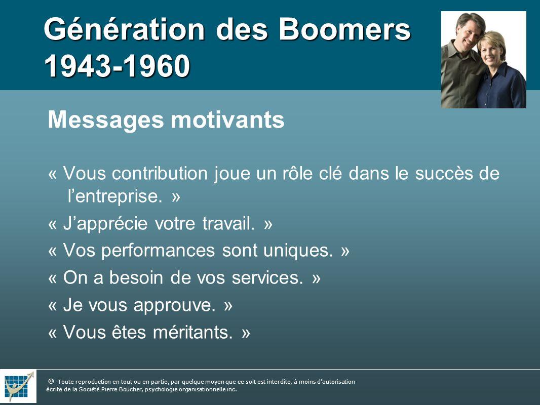 Génération des Boomers 1943-1960