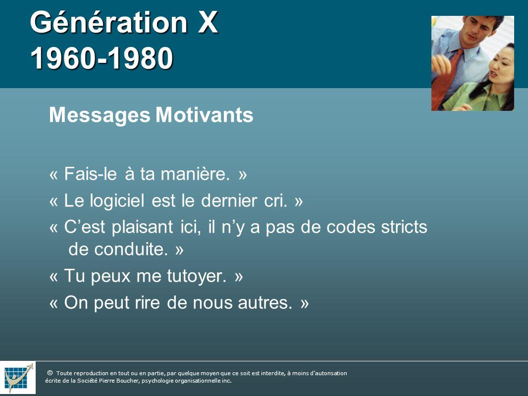 Génération X 1960-1980 Messages Motivants « Fais-le à ta manière. »