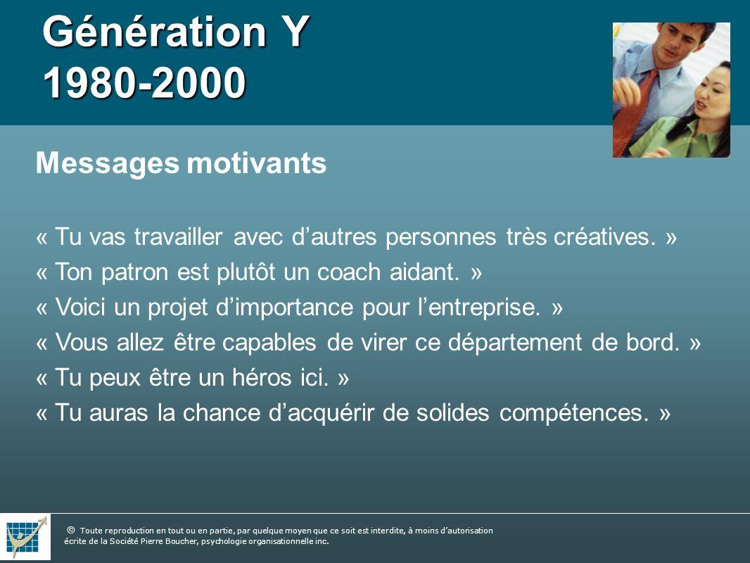 Génération Y 1980-2000 Messages motivants