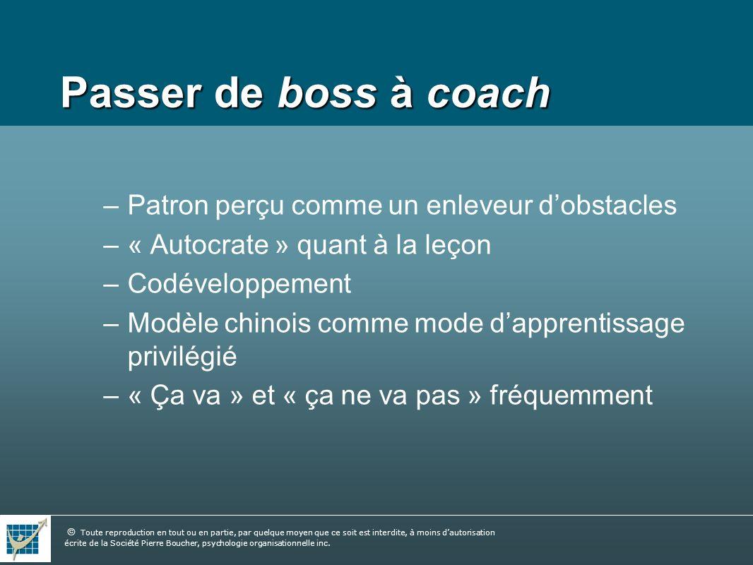 Passer de boss à coach Patron perçu comme un enleveur d'obstacles