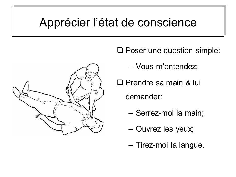 Apprécier l'état de conscience