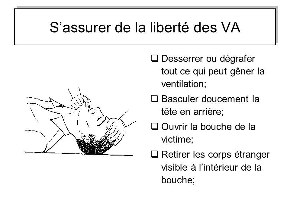 S'assurer de la liberté des VA