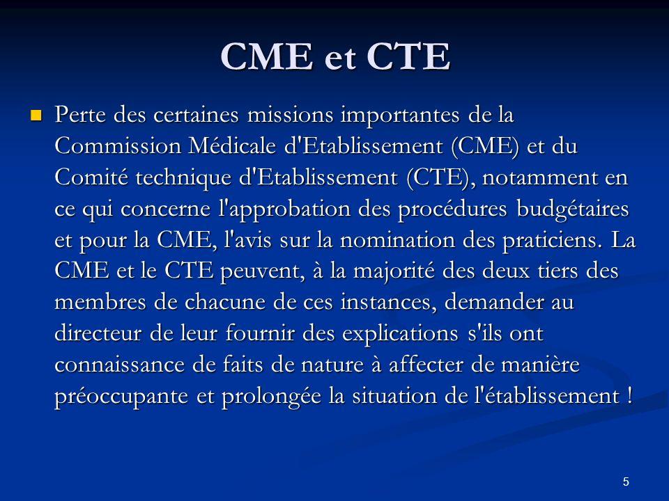 CME et CTE