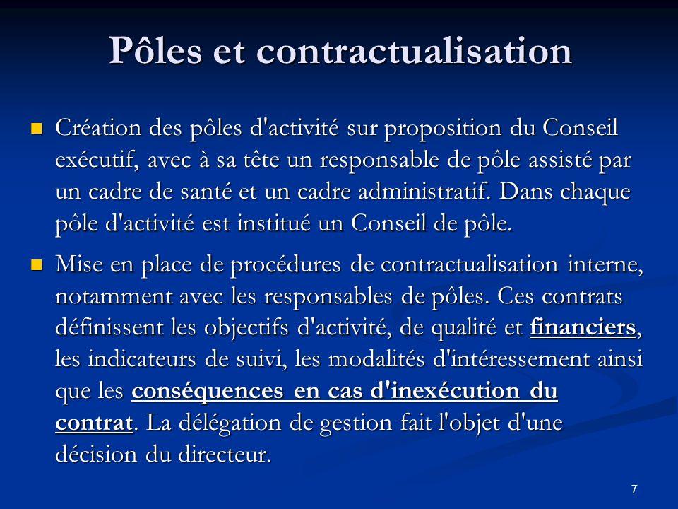 Pôles et contractualisation