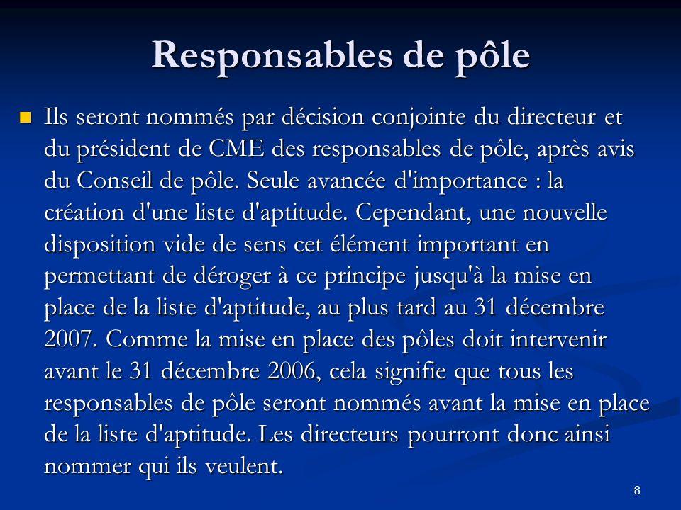 Responsables de pôle