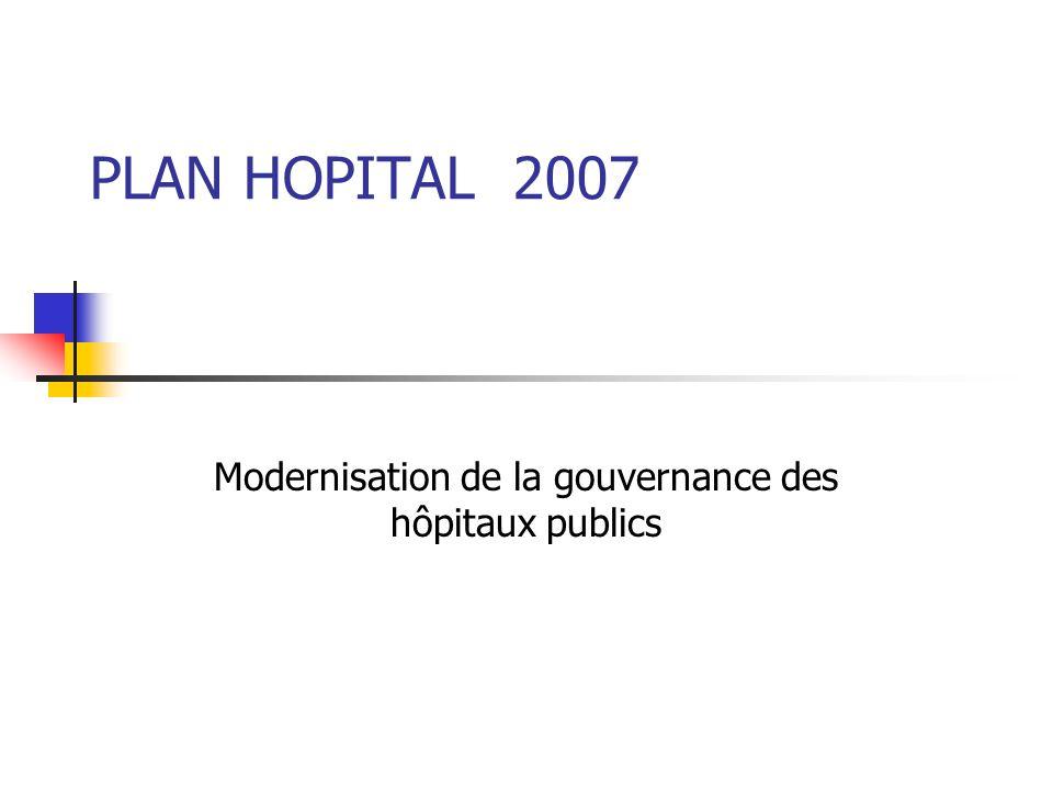 Modernisation de la gouvernance des hôpitaux publics