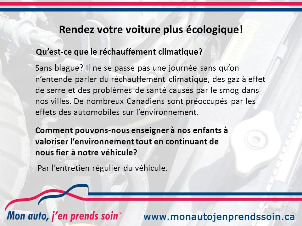 Rendez votre voiture plus écologique!
